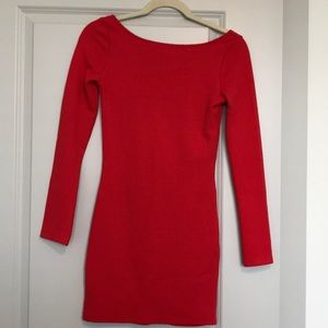 H&M Long Sleeve Red Dress